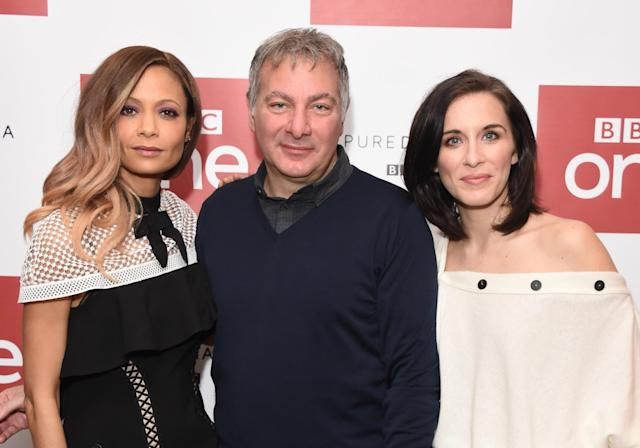 Thandie Newton, Jed Mercurio and Vicky McClure attend the launch of the BBC drama 'Line Of Duty' on March 3, 2017 in London, United Kingdom. (Photo by Stuart C. Wilson/Getty Images)