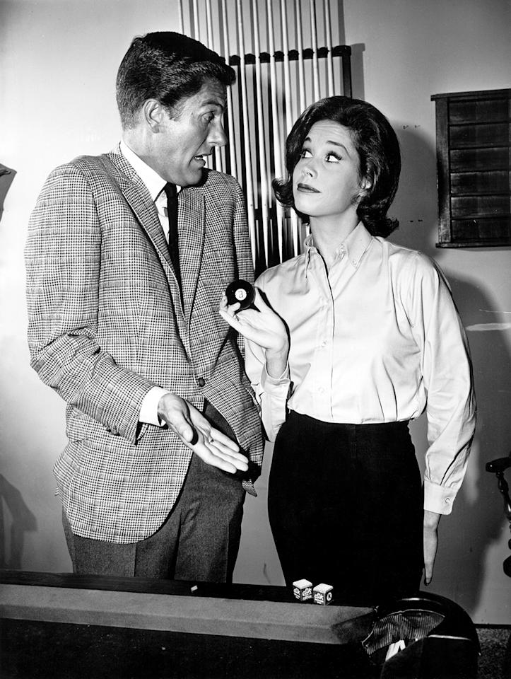 <p>With her namesake co-star, Mary Tyler Moore helped portray the picture-perfect couple of the Camelot era. She won two Emmys for her breakthrough role as Laura Petrie on the 1961-66 sitcom classic. <br />(Credit: Everett Collection) </p>