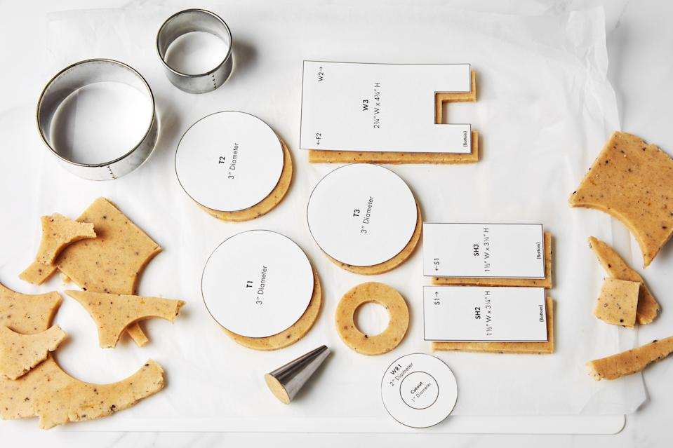 Photo A: Rounds can be cut out neatly from biscuit cutters, jar lids or even pastry tips. Don't forget to save your scraps in case a piece breaks later.