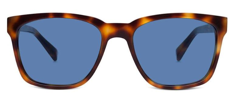 """Warby Parker Barkley sunglasses in oak barrel, from $150. Available at <a href=""""https://ca.warbyparker.com/sunglasses/men/barkley/oak-barrel"""" target=""""_blank"""" rel=""""noopener noreferrer"""">Warby Parker</a>."""