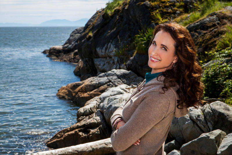 "This publicity photo released by Hallmark Channel shows Andie MacDowell, as Olivia Lockhart, a municipal judge, in ""Debbie Macomber's Cedar Cove."" The series debuts Saturday, July 20, 2013, on the Hallmark Channel. (AP Photo/Copyright Hallmark Channel, Katie Yu)"