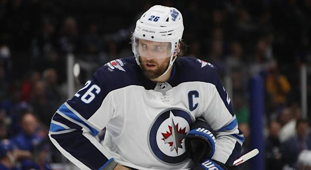 Blake Wheeler and the Jets are a mess right now. (Photo by Bruce Bennett/Getty Images)