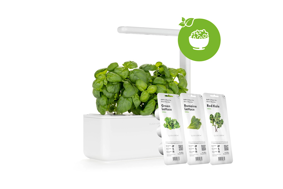 "<h2>Click and Grow</h2><br><strong>Dates: </strong>Nov. 30<br><strong>Sale: </strong>30% off smart gardens & bundles<br><strong>Promo Code:</strong> None<br><br><em>Shop </em><strong><em><a href=""https://www.clickandgrow.com/collections/sale"" rel=""nofollow noopener"" target=""_blank"" data-ylk=""slk:Click and Grow"" class=""link rapid-noclick-resp"">Click and Grow</a></em></strong><br><br><strong>Click and Grow</strong> The Salad Lovers Kit, $, available at <a href=""https://go.skimresources.com/?id=30283X879131&url=https%3A%2F%2Fwww.clickandgrow.com%2Fproducts%2Fthe-salad-lovers-kit"" rel=""nofollow noopener"" target=""_blank"" data-ylk=""slk:Click and Grow"" class=""link rapid-noclick-resp"">Click and Grow</a>"