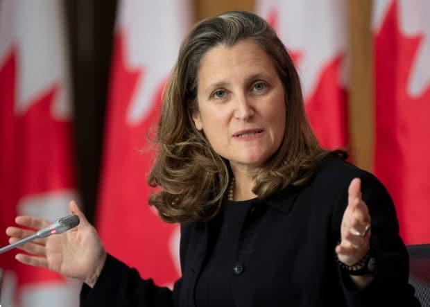 Deputy Prime Minister and Minister of Finance Chrystia Freeland laid out the government's $354 budget deficit in Ottawa on Monday.
