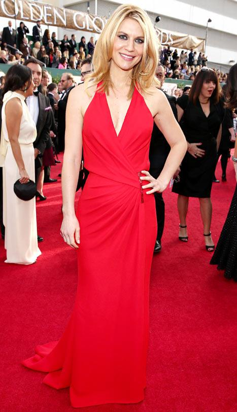Claire Danes on Her Post-Baby Bod at the Golden Globes: I Haven't Lost All the Baby Weight
