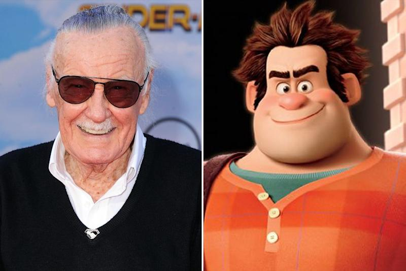 Stan Lee and <em>Wreck-It Ralph</em>.
