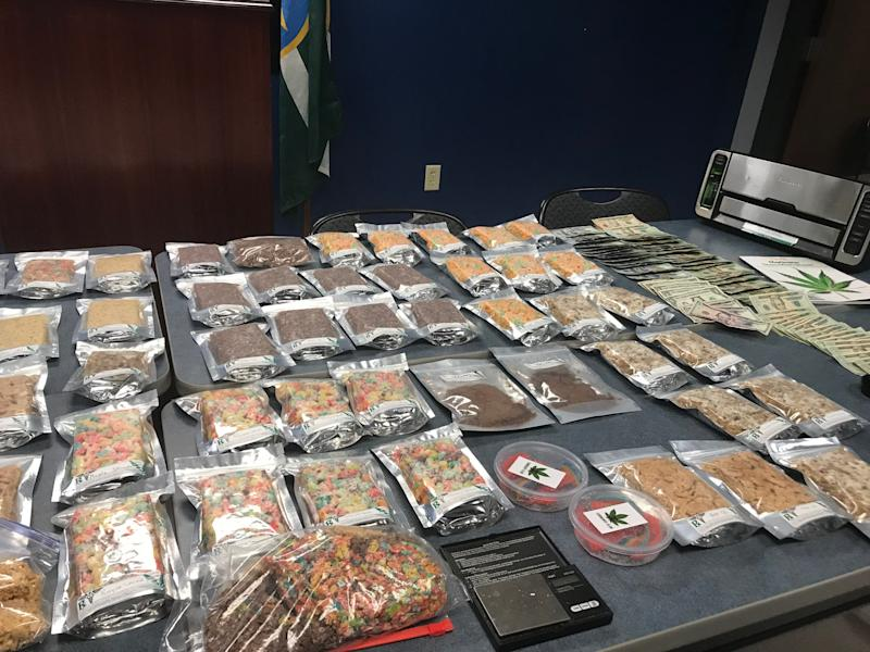 """Jackson police say they have confiscated several baggies filled with marijuana-infused snacks at a """"dispensary party."""""""