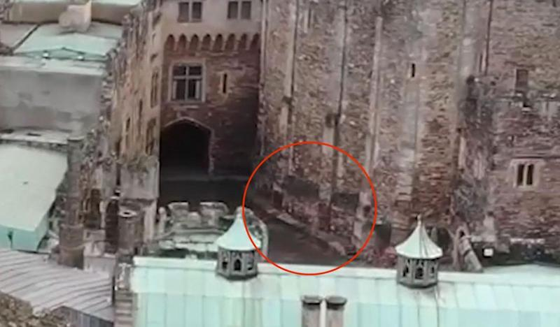 He spotted the spectral rider entering the castle. Photo: Mega