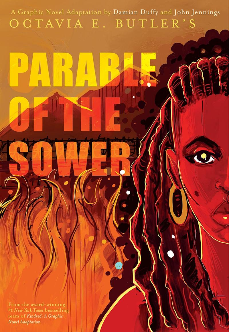 """The cover of the """"Parable of the Sower"""" graphic novel, an adaption of the Octavia E. Butler book by Damian Duffy and John Jennings."""