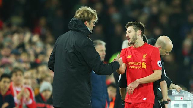 Adam Lallana could make his return for Liverpool against Watford after a month out, with Jurgen Klopp delighted to have the midfielder back.