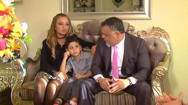 PHOTO: Hoda Dannaoui, left, with her 5-year-old son, Abdul, and their lawyer. (WXYZ)