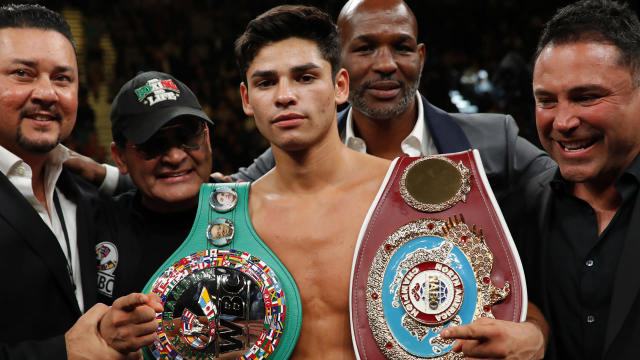 Ryan Garcia improved to 20-0 thanks to a first-round knockout of Francisco Fonseca in Anaheim.