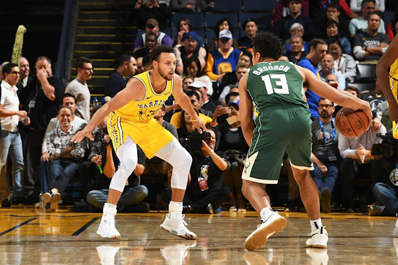 Stephen Curry Leaves Bucks-Warriors Game With Adductor Strain