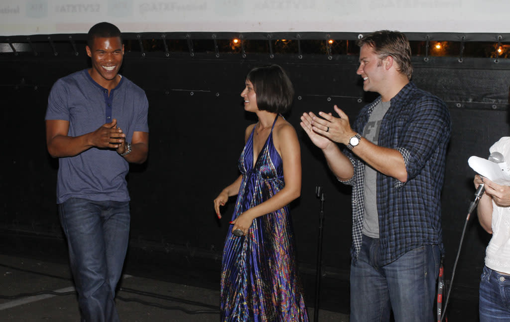 "Gaius Charles, Stephanie Hunt and Scott Porter attend the ""Friday Night Lights"" Community Screening at the ATX Television Festival on Friday, June 7, 2013 in Austin, Texas."