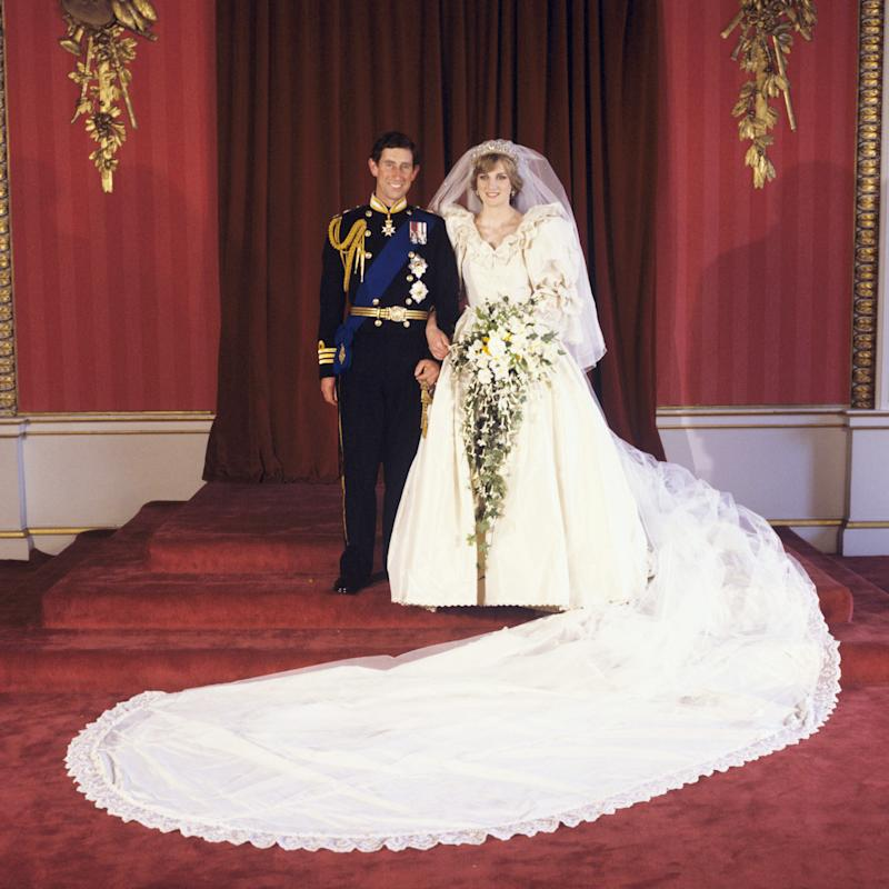 Charles and Diana in their official wedding photos [Photo: PA]