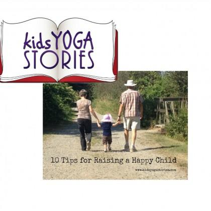 """<div class=""""caption-credit""""> Photo by: Kids Yoga Stories</div><div class=""""caption-title"""">Happy Mom, Happy Kids</div>Giselle's first tip to raising happy kids can seem fairly obvious. How can we ask our kids to be happy without being happy ourselves? But I love her <a rel=""""nofollow"""" href=""""http://www.kidsyogastories.com/tips-for-raising-a-happy-child/"""" target=""""_blank"""">10 Tips To Raising A Happy Child</a> because they include yoga disciplines from around the globe that both mom and baby can enjoy. Giselle gives us actionable steps to raising happier kids. <i>""""The focus of the month was on Santosha (translated as """"contentment"""" or """"happiness""""), one of the five personal disciplines of the yoga philosophy. When I taught for years in international schools, I was particularly curious about what makes children happy around the world. Now, as a mom to a two-year-old, I have been thinking a lot about how to raise a happy child.""""</i>"""