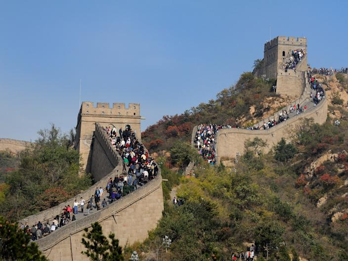 Badaling Great Wall of China crowds