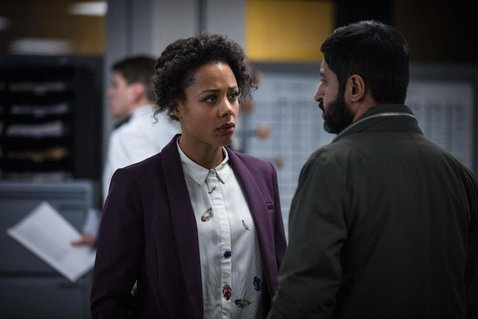 DS Louise Rayburn (Nina Toussaint-White) and DCI Deepak Sharma (Ash Tandon) try to find the truth (Picture: BBC)