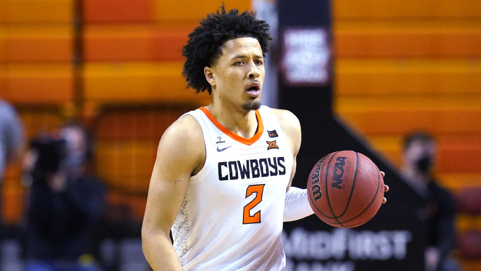 Cade Cunningham dribbles during a game this season.