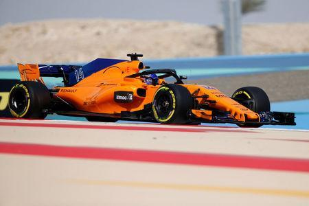 Formula 1 F1 - Bahrain Grand Prix - Bahrain International Circuit, Sakhir, Bahrain - April 7, 2018 McLaren's Fernando Alonso in action during practice REUTERS/Hamad I Mohammed