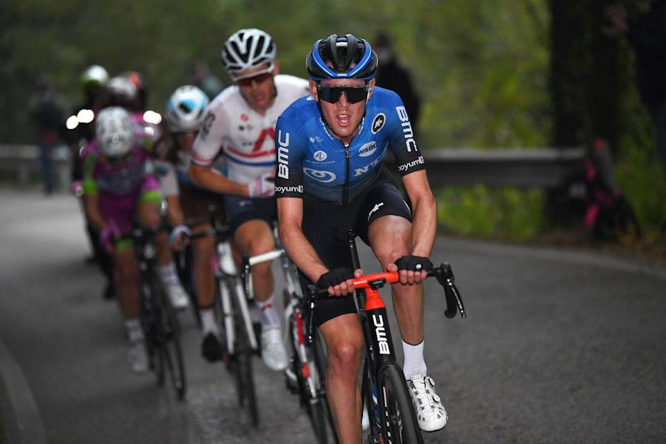 SAN DANIELE DEL FRIULI ITALY  OCTOBER 20 Ben Oconnor of Australia and NTT Pro Cycling Team  Breakaway  during the 103rd Giro dItalia 2020 Stage 16 a 229km stage from Udine to San Daniele Del Friuli 249m girodiitalia  Giro  on October 20 2020 in San Daniele Del Friuli Italy Photo by Tim de WaeleGetty Images