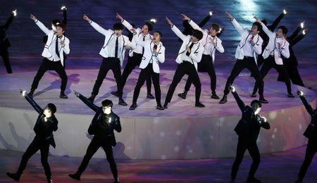 Pyeongchang 2018 Winter Olympics - Closing ceremony - Pyeongchang Olympic Stadium - Pyeongchang, South Korea - February 25, 2018 - Exo band performs during the closing ceremony. REUTERS/Damir Sagolj