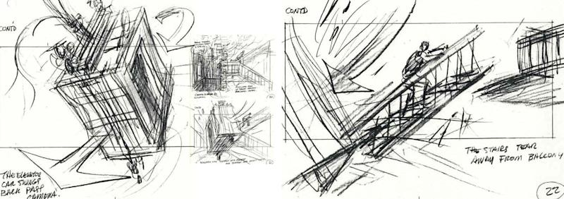 Rare storyboards shows a deleted scene from <i>Die Hard.</i>