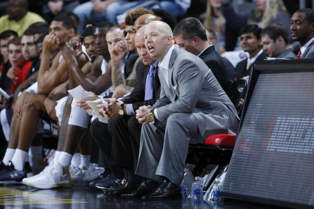 Mick Cronin traded barbs with Chris Mack after Xavier's 89-76 victory over Cincinnati. (Getty)
