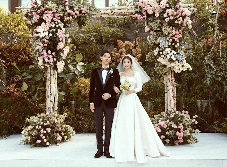South Korean stars Song Joong-ki and Song Hye-kyo have tied the knot. (Photo: Blossom Entertainment)