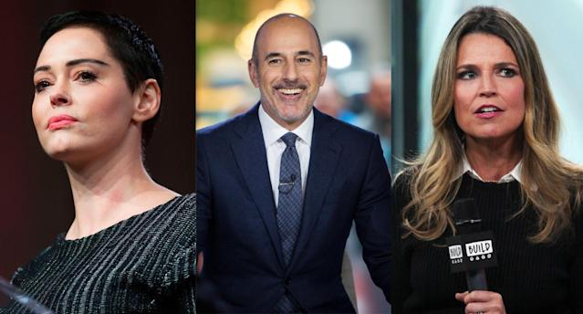 Hollywood reacts to Matt Lauer's firing. (Photo: Getty Images)