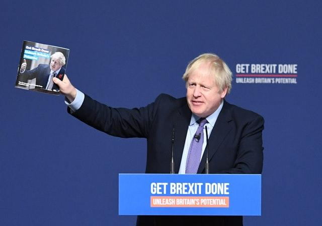 Boris Johnson launches the Tory manifesto in Telford
