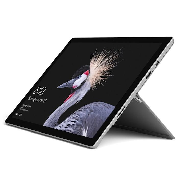 <p>Never hear them complain about a tablet again with the new <span>Microsoft Surface Pro</span> ($420 and up).</p>