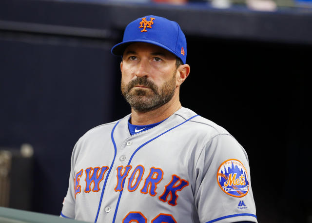 Manager Mickey Callaway apologized on Monday for his clubhouse incident at Wrigley Field. (Getty Images)