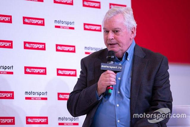 "Pat Symonds on the Autosport Stage <span class=""copyright"">Paul Foster</span>"