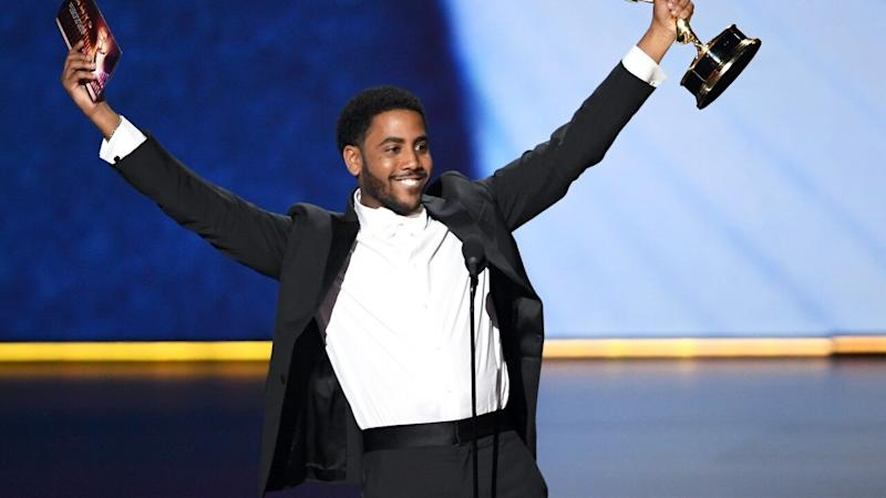 Jharrel Jerome Gets a Standing Ovation From the Exonerated 5 at 2019 Emmys After Lead Actor Win