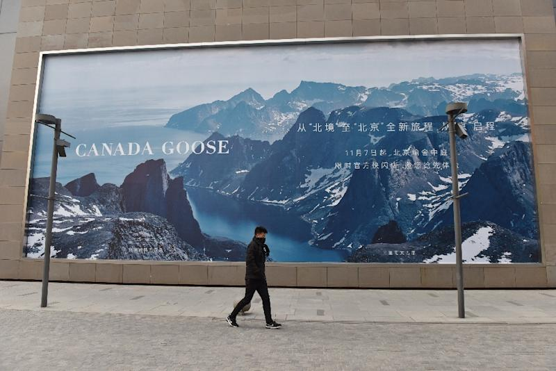 Famous for its high-end parka jackets Canada Goose said its new store would not open as planned because of ongoing works