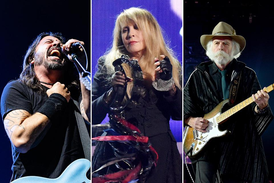 stevie-nicks-foo-fighters-dead-and-company-jazzfest - Credit: Griffin Lotz; Kevin Mazur/Getty Images; John Shearer/Getty Images