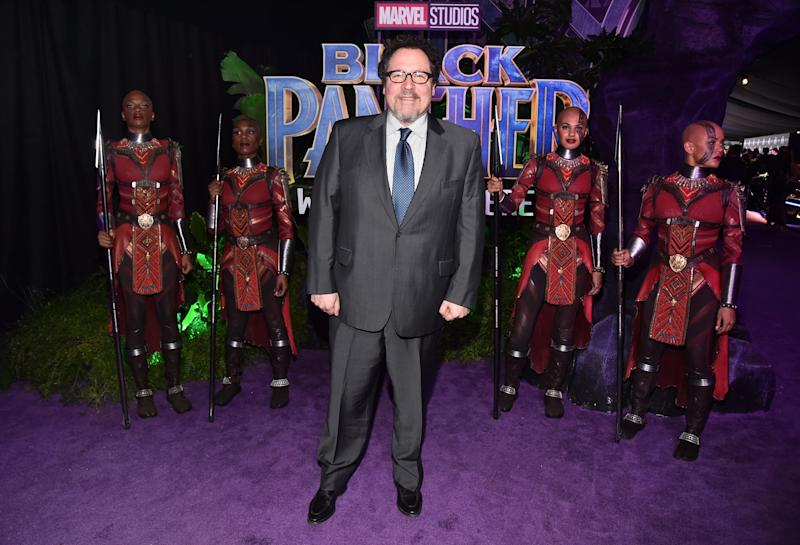 "Director Jon Favreau at the premiere of ""Black Panther"" in Hollywood on Jan. 29."