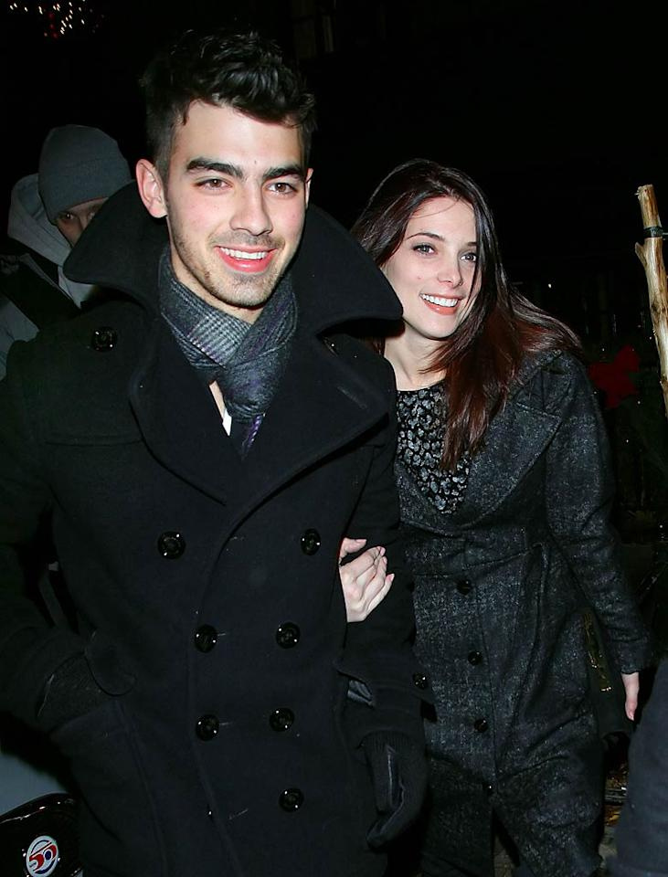 """On the heels of Joe Jonas and Ashley Greene staying at Disney World, <i>OK!</i> reports there are rumors """"they are engaged."""" The outlet notes that after their trip to the Magic Kingdom, """"Ashley was spotted wearing a ring on her wedding finger."""" For details on the rock and how Jonas popped the question, check out what Greene's rep exclusively tells <a href=""""http://www.gossipcop.com/joe-jonas-ashley-greene-engaged-engagement-ring-disney/"""" target=""""new"""">Gossip Cop</a>. Jackson Lee/<a href=""""http://www.splashnewsonline.com"""" target=""""new"""">Splash News</a> - December 17, 2010"""