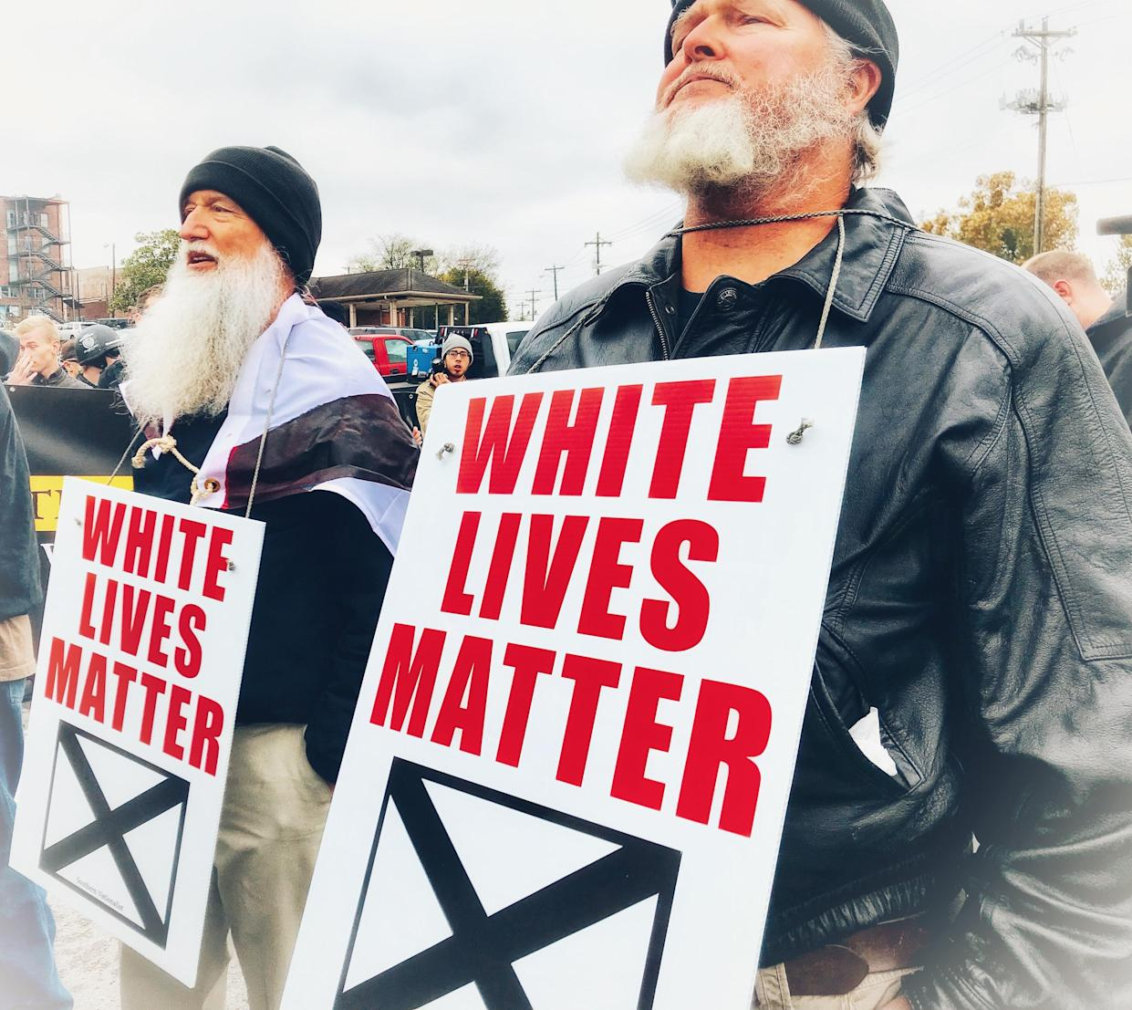 "A ""White Lives Matter"" rally in Shelbyville, Tenn., October 2017. (Photo: Caitlin Dickson/Yahoo News)"