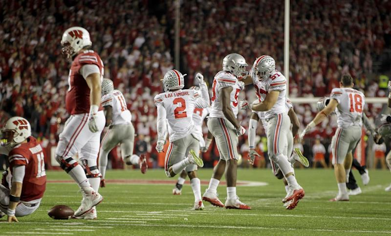 Barrett, No. 2 Ohio State charge past No. 8 Wisconsin in OT