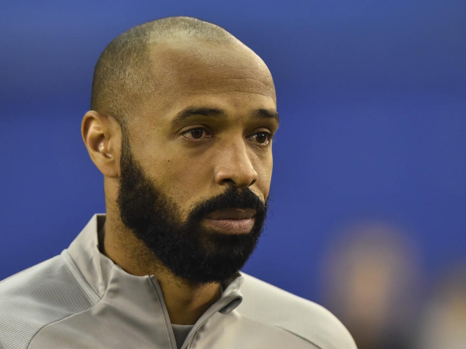 Thierry Henry opened Montreal's MLS tournament play with a poignant moment. (Photo by Minas Panagiotakis/Getty Images)