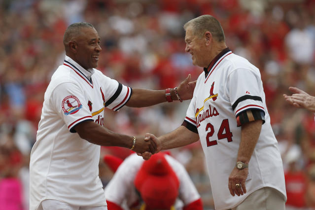 """Hall of Fame shortstop Ozzie Smith and manager Whitey Herzog helped bring <a class=""""link rapid-noclick-resp"""" href=""""/mlb/teams/st-louis/"""" data-ylk=""""slk:St. Louis Cardinals"""">St. Louis Cardinals</a> baseball to a new level in the 1980s. (Photo by Paul Nordmann/Getty Images)"""