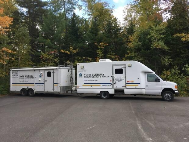 York Sunbury Search and Rescue's command post and trailer.
