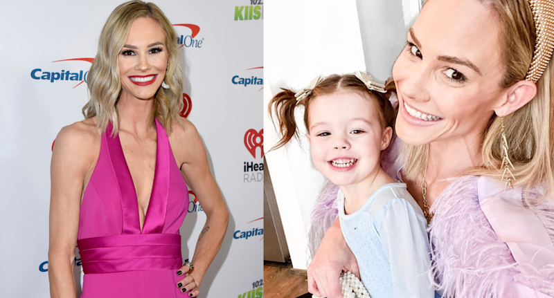 Meghan King Edmonds. Images via Getty Images/Instagram/MeghanKEdmonds.
