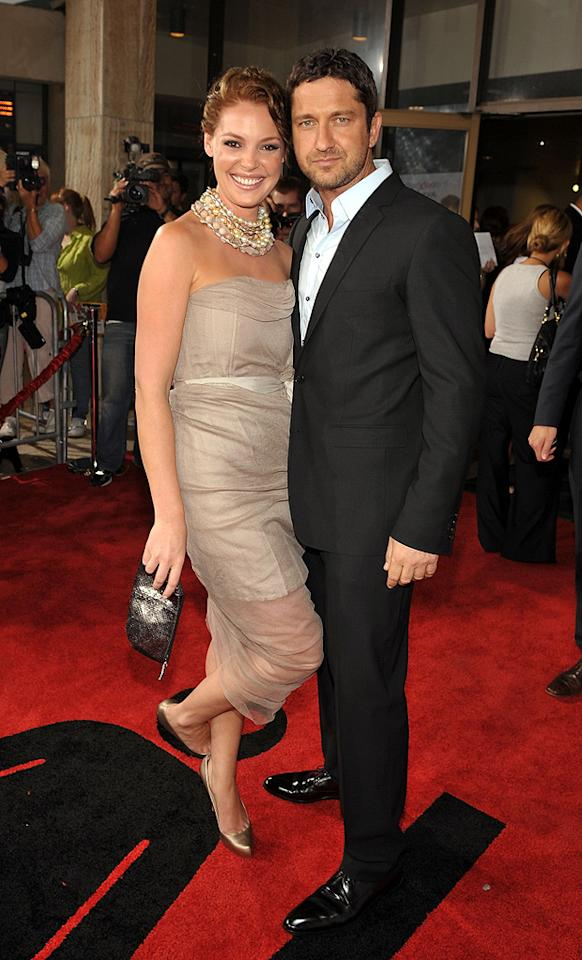 "<a href=""http://movies.yahoo.com/movie/contributor/1800018759"">Katherine Heigl</a> and <a href=""http://movies.yahoo.com/movie/contributor/1803248911"">Gerard Butler</a> at the Los Angeles premiere of <a href=""http://movies.yahoo.com/movie/1810021980/info"">The Ugly Truth</a> - 07/16/2009"