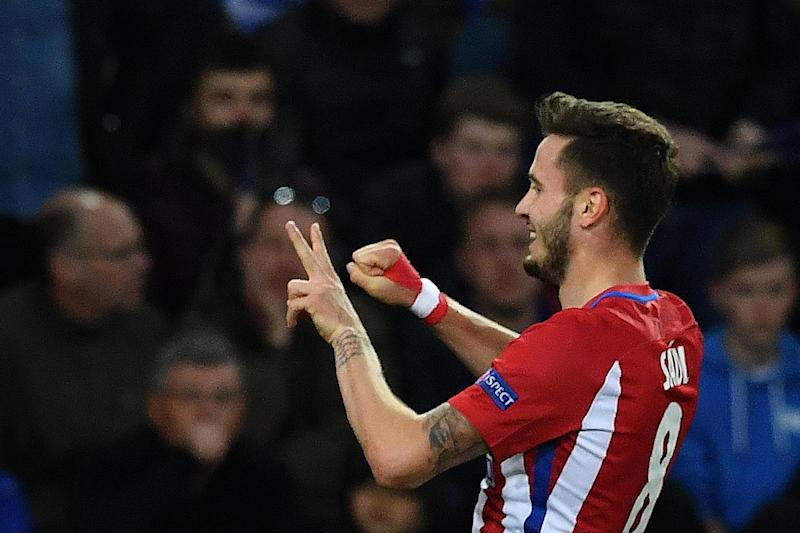 Delight | Saul Niguez celebrates his goal against Leicester: AFP/Getty Images