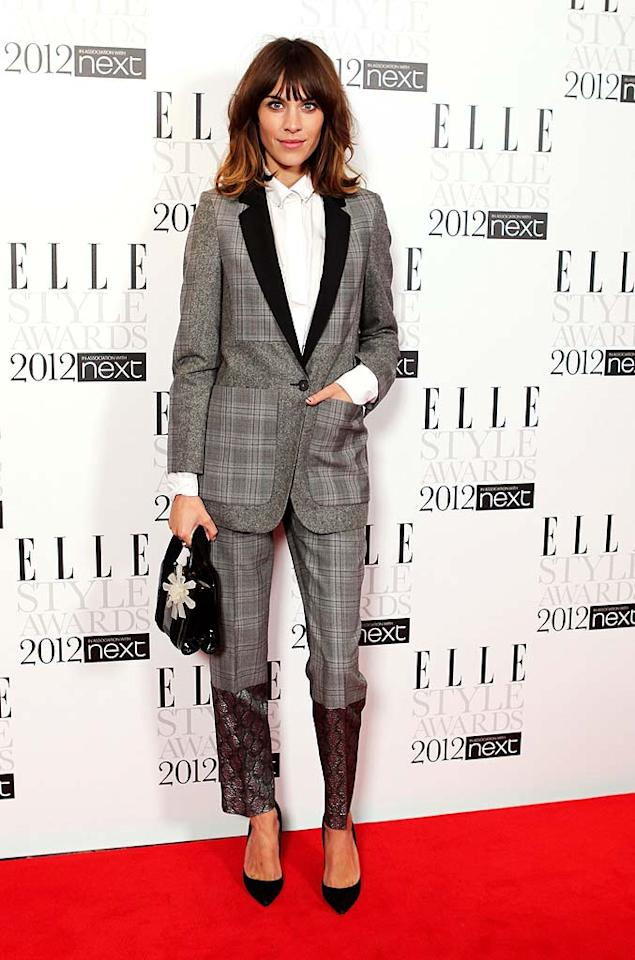 Alexa Chung was quite the fashionable host for the night in a Stella McCartney suit. Casual hair and minimum makeup completed her menswear-inspired look. (2/13/2012)