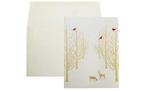 Paula Skene Snowy Forest Boxed Cards, Box of 8, from Fortnum and Mason - Credit: Fortnum & Mason