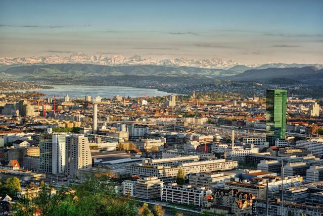<p>No. 1: Zurich, Switzerland<br>Cost of a date: $195.90<br>(Getty) </p>